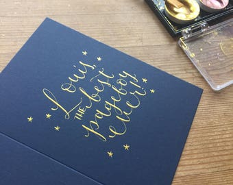 Personalised wedding party greeting card