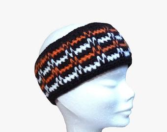 earmuffs headband sport graphic double fleece hand made