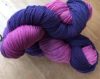 Dipped purple, merino 4ply