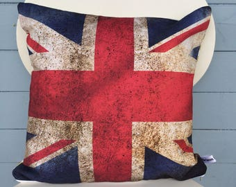 Union Jack Flag cushion, British Flag Pillow, UK flag, Man Shed, Man Cave Gift, Gift for Dad