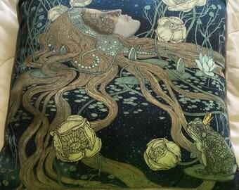lovely large fairytale mermaid carnivale throw pillow