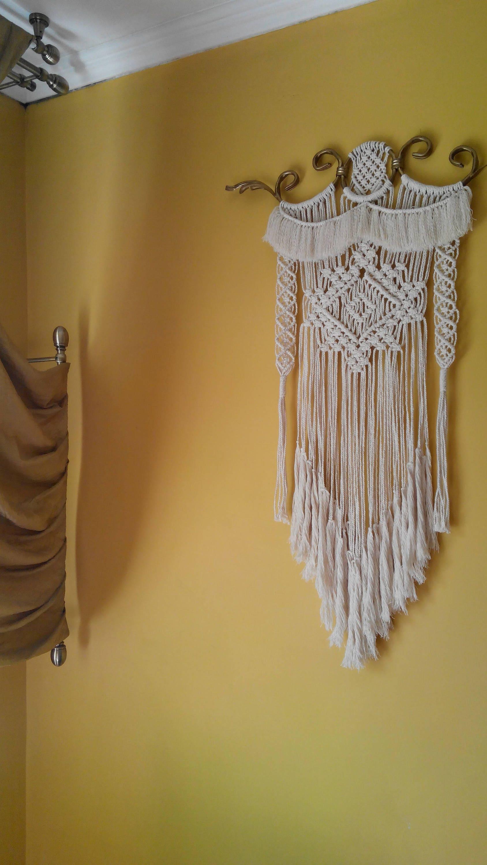 MacrameJosephine /Bronze ornamental iron macrame wall hanging ...
