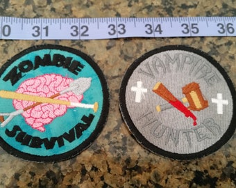 Supernatural survivor badges iron on patch