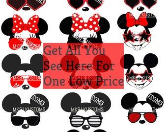 Minnie Mickey Sunglasses/Disney Svg/Mickey Mouse Head Svg/Minnie Mouse Head Svg/Minnie Svg/Mickey Sunglasses/Disney Family/Minnie Sunglasses