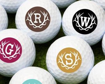Antler Single Initial Personalized Golf Balls - Bulk Price Available (MIC-JM4694863)