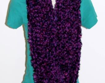 Plum Infinity Scarf, Handmade Scarf, Women's Scarf, Purple Soft Scarf, Infinity Scarf, Crochet Circle Scarf