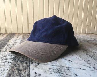 Vintage LL Bean Wool Hiking Leather Strap Back Hat