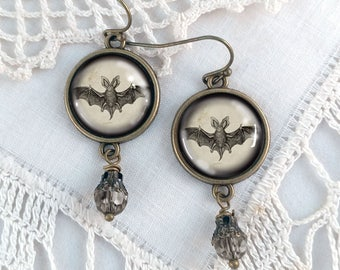 Victorian Bats - Halloween Earrings