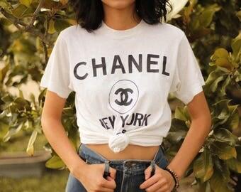 Vintage Chanel New York Paris T-Shirt