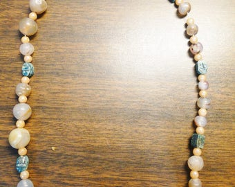 "Great Strand Of Loose Stone Beads - Approx. 21"" - No clasp - Nice Find!"