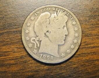 Scarce 1898o Barber Half Dollar - Better Date - Nice Old Coin!