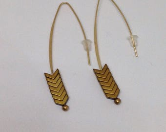 Earrings Chevron beads