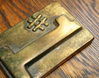Solid Brass Paperweight, # 1 Paper Weight, Desk Accessory