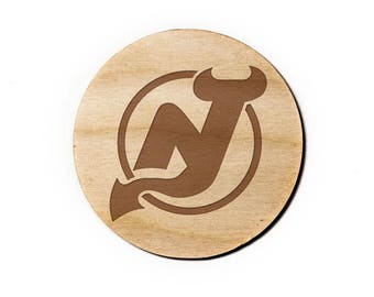 New Jersey Devils Engraved Birch Coasters