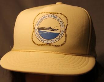 Vintage Arizona Game & Fish Boater Education Program Snapback Trucker Hat !