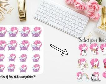 10 New Unicorn stickers