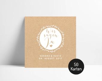 Cards / wedding invitation No.. 1