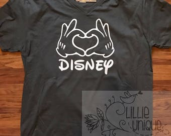 Mickey Hand Heart Disney Shirt