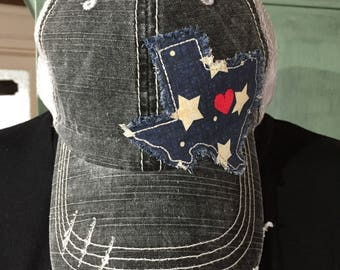 Texas Distressed Trucker Hat Raggy Patch Trucker Hat Raggy Texas Distressed Hat Texas Baseball Hat