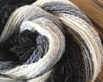 Handspun and Hand dyed Gradient Merino Yarn