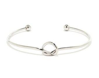 Love Knot Bridesmaid, Tie the Knot Bracelet , Tie the Knot Bracelet, Love Knot Bracelet , Silver Knot bracelet, Bridesmaid Gift