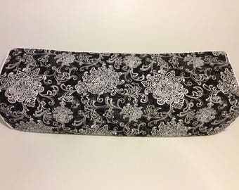 New! Cricut Maker and Explore/ Air/ Air 2/ One Custom Handmade Dust Cover Black and White Floral with Black Piping