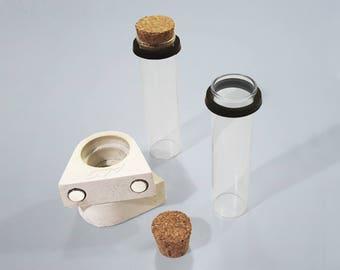 2 magnetic concrete test tube holders KETTA