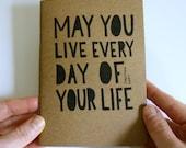 Hand Lettered Notebook - Journal - Inspirational Quote - Kraft Notebook - A6 Sketchbook - Hand Embellished Notebooks - Jonathan Swift
