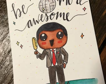 Kid President Be More Awesome Watercolor