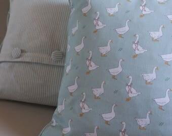 Duckegg Blue Goosey Cushion