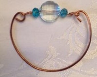 copper and bead bracelet
