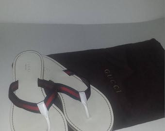 Authentic leather Gucci flip flops size 7.5