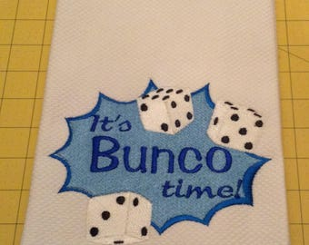It's Bunco Time! Embroidered Williams Sonoma All Purpose Kitchen Hand Towel