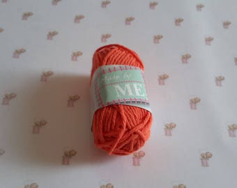 Mini skein cotton orange crochet amigurumi canvas