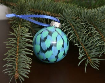 Light Green and Blue Ornament