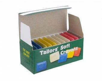 Chalk tailor sewing tracing for rectangular fabric