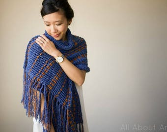 Two-Tone Scarf Wrap Crochet Pattern