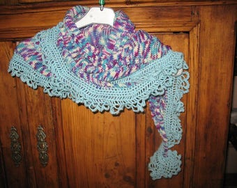 MULTICOLOR shawl covers shoulder scarf knit and crochet