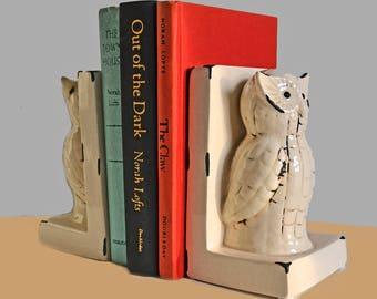 Vintage Ceramic Owl Bookends/Figurines