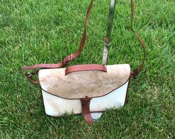 Mexican Made Leather Deer Skin Messenger Bag