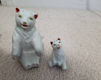 Antique Polar Bear Salt and Pepper Shakers