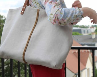 Tote bag linen tote/shopping tote/hand/tote bag handbag /linen