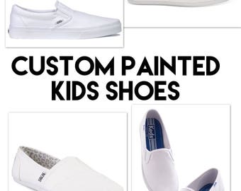 Custom painted kids shoes