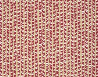 """David Walker FreeSpirit Designer Cotton Fabric """"Winter Wonderland"""" Peppermint Stick in Nutmeg Remnant"""
