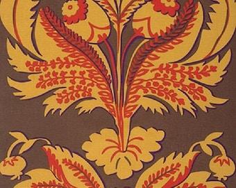 HUGE SALE Westminster  Fabrics Brandon Mably Spring 2015  Brandons Brocade Brown Sateen BTY