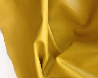 Yellow / Gold Leather Remnant