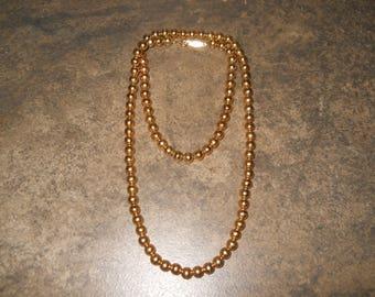Vintage Gold Bead Napier Necklace