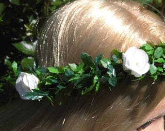 Hair wreath flower wreath headdress wedding