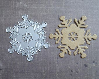 Die cut matrix Sizzix winter snowflake version 2