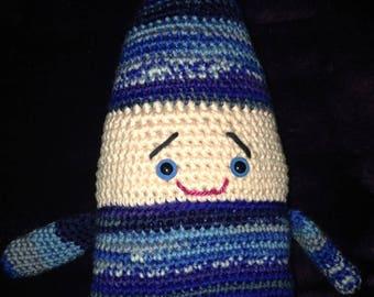 COP' ELF toy Pixie crocheted tones Blue Navy Blue
